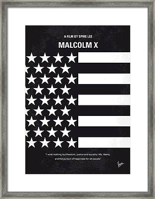 No250 My Malcolm X Minimal Movie Poster Framed Print by Chungkong Art