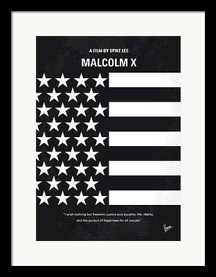 Malcolm X Artwork Framed Prints