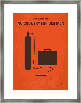 No253 My No Country For Old Men Minimal Movie Poster Framed Print