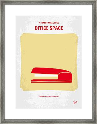No255 My Office Space Minimal Movie Poster Framed Print