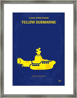 No257 My Yellow Submarine Minimal Movie Poster Framed Print
