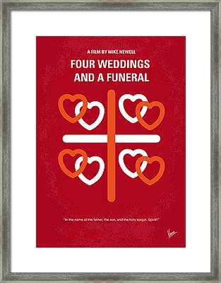 No259 My Four Weddings And A Funeral Minimal Movie Poster Framed Print by Chungkong Art