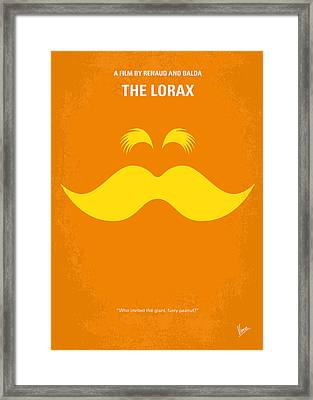No261 My The Lorax Minimal Movie Poster Framed Print