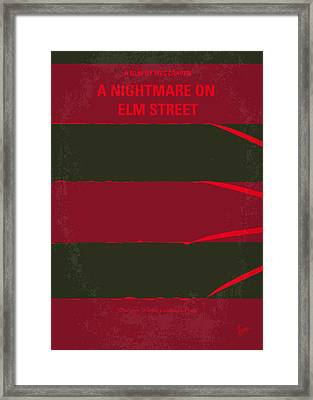 No265 My Nightmare On Elmstreet Minimal Movie Poster Framed Print