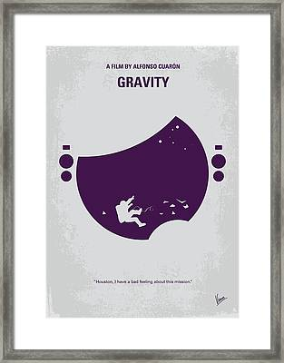 No269 My Gravity Minimal Movie Poster Framed Print by Chungkong Art