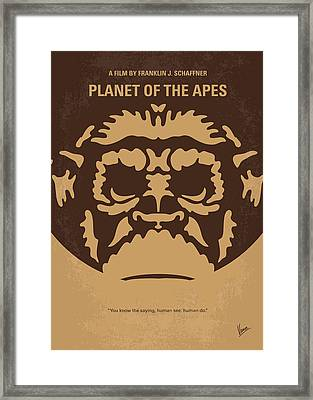 No270 My Planet Of The Apes Minimal Movie Poster Framed Print