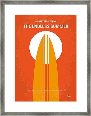 No274 My The Endless Summer Minimal Movie Poster Framed Print by Chungkong Art