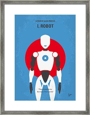 No275 My I Robot Minimal Movie Poster Framed Print by Chungkong Art