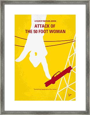 No276 My Attack Of The 50 Foot Woman Minimal Movie Poster Framed Print by Chungkong Art