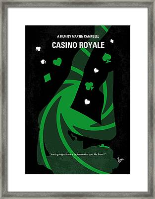No277-007-2 My Casino Royale Minimal Movie Poster Framed Print by Chungkong Art