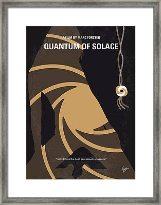 No277-007-2 My Quantum Of Solace Minimal Movie Poster Framed Print