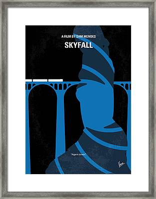 No277-007-2 My Skyfall Minimal Movie Poster Framed Print