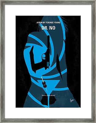 No277-007 My Dr No Minimal Movie Poster Framed Print by Chungkong Art
