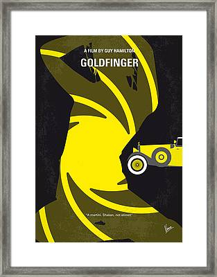 No277-007 My Goldfinger Minimal Movie Poster Framed Print by Chungkong Art
