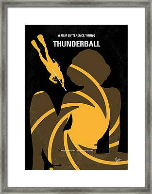 No277-007 My Thunderball Minimal Movie Poster Framed Print by Chungkong Art