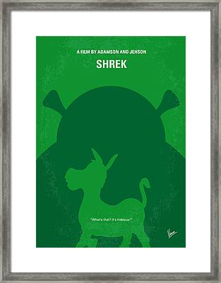 No280 My Shrek Minimal Movie Poster Framed Print by Chungkong Art