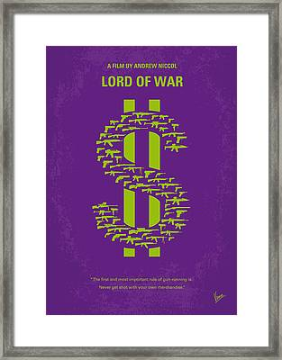 No281 My Lord Of War Minimal Movie Poster Framed Print