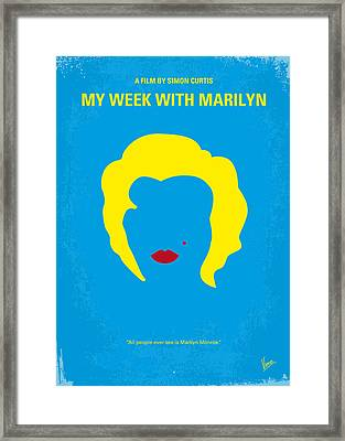No284 My Week With Marilyn Minimal Movie Poster Framed Print by Chungkong Art