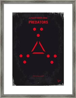 No289 My Predators Minimal Movie Poster Framed Print