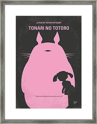 No290 My My Neighbor Totoro Minimal Movie Poster Framed Print by Chungkong Art