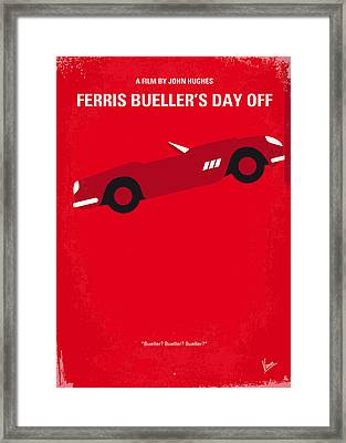 No292 My Ferris Bueller's Day Off Minimal Movie Poster Framed Print by Chungkong Art