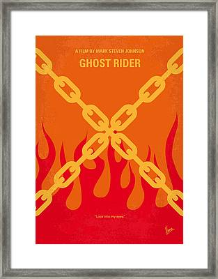 No296 My Ghost Rider Minimal Movie Poster Framed Print by Chungkong Art