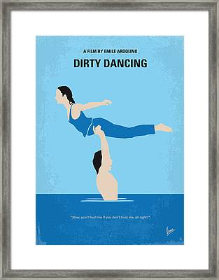 No298 My Dirty Dancing Minimal Movie Poster Framed Print by Chungkong Art