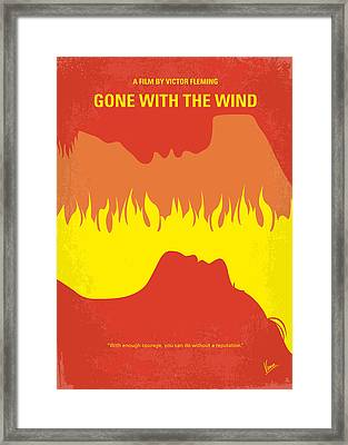 No299 My Gone With The Wind Minimal Movie Poster Framed Print by Chungkong Art