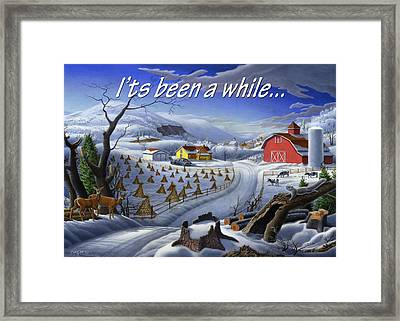 no3 Its been a while Framed Print by Walt Curlee