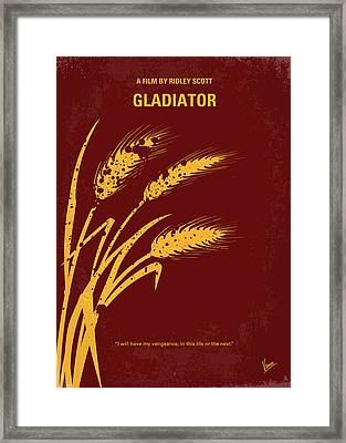 No300 My Gladiator Minimal Movie Poster Framed Print