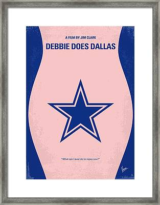 No302 My Debbie Does Dallas Minimal Movie Poster Framed Print