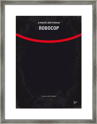 No303 My Robocop Minimal Movie Poster Framed Print by Chungkong Art