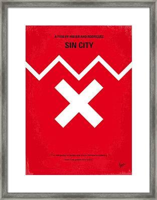 No304 My Sin City Minimal Movie Poster Framed Print by Chungkong Art
