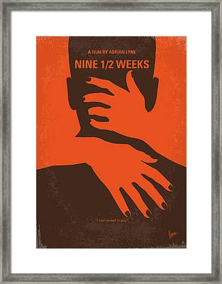 No305 My Nine Half Weeks Minimal Movie Poster Framed Print
