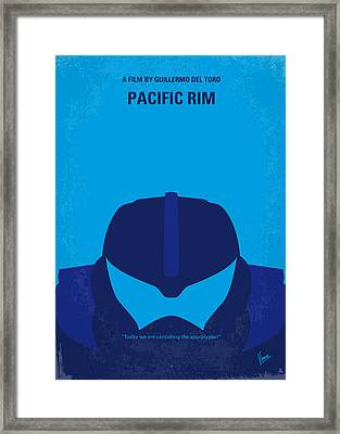 No306 My Pacific Rim Minimal Movie Poster Framed Print