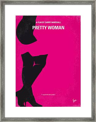 No307 My Pretty Woman Minimal Movie Poster Framed Print by Chungkong Art