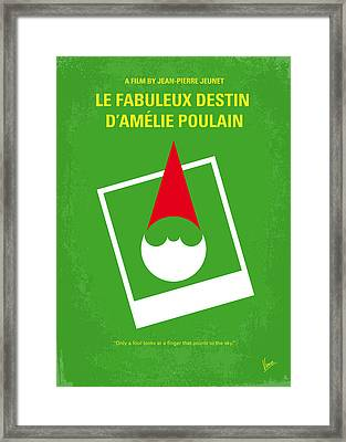 No311 My Amelie Minimal Movie Poster Framed Print