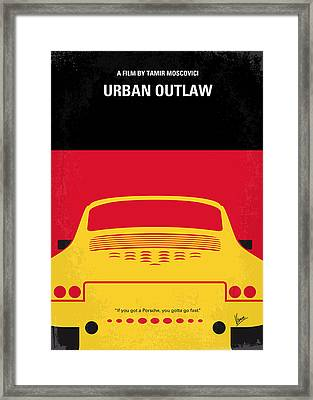 No316 My Urban Outlaw Minimal Movie Poster Framed Print by Chungkong Art