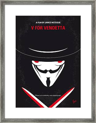 No319 My V For Vendetta Minimal Movie Poster Framed Print by Chungkong Art
