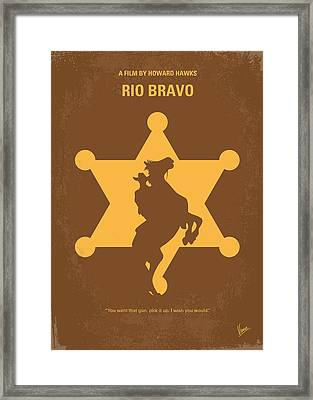 No322 My Rio Bravo Minimal Movie Poster Framed Print