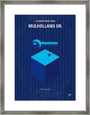No323 My Mulholland Drive Minimal Movie Poster Framed Print by Chungkong Art