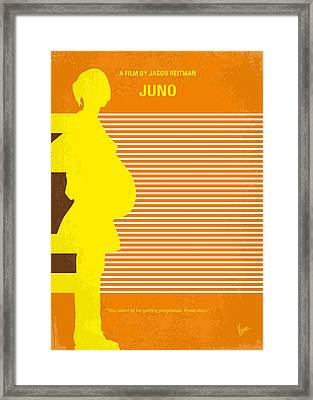 No326 My Juno Minimal Movie Poster Framed Print