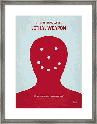 No327 My Lethal Weapon Minimal Movie Poster Framed Print by Chungkong Art