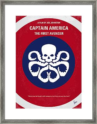 No329 My Captain America - 1 Minimal Movie Poster Framed Print by Chungkong Art