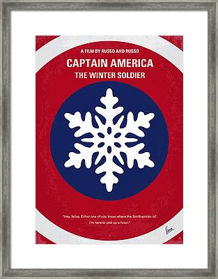 No329 My Captain America - 2 Minimal Movie Poster Framed Print by Chungkong Art