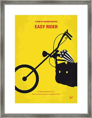 No333 My Easy Rider Minimal Movie Poster Framed Print by Chungkong Art