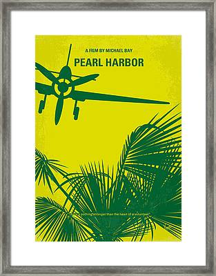 No335 My Pearl Harbor Minimal Movie Poster Framed Print by Chungkong Art