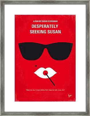 No336 My Desperately Seeking Susan Minimal Movie Poster Framed Print