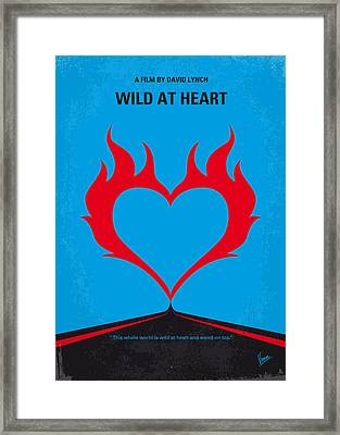 No337 My Wild At Heart Minimal Movie Poster Framed Print by Chungkong Art
