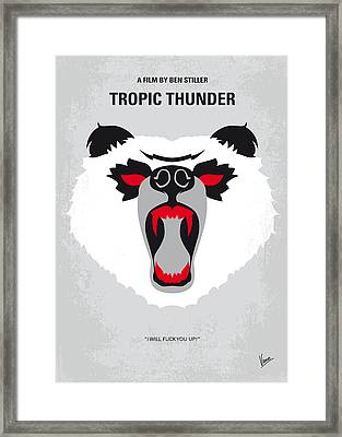 No344 My Tropic Thunder Minimal Movie Poster Framed Print